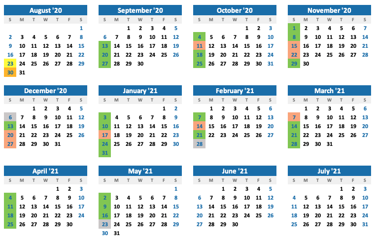 Avvai Tamil Center Calendar 2020-21